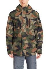 Quiksilver Snow Men's Mission 3 in 1 10K Jacket WAXDOTCAMO Army