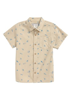 Quiksilver Take a Wave Button-Up Shirt (Toddler & Little Boy)