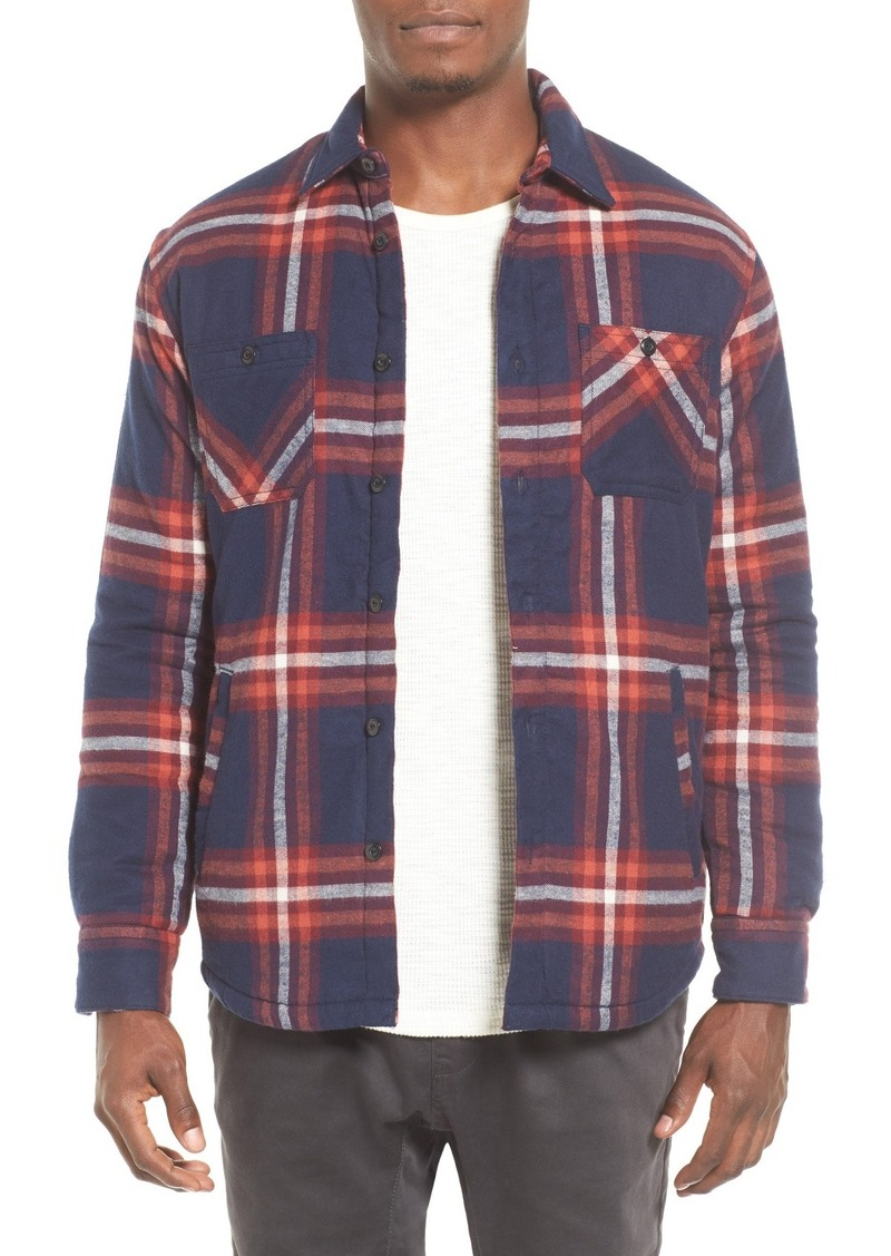 Quiksilver The Game Player Fleece Lined Flannel Shirt