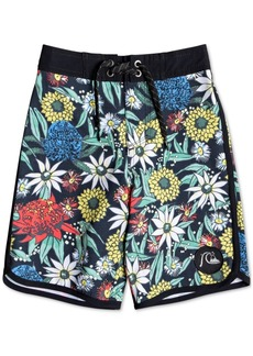 Quiksilver Toddler & Little Boys Highline Floral-Print Swim Trunks