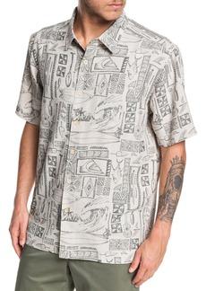 Quiksilver Vaianae Bay Regular Fit Short Sleeve Button-Up Shirt