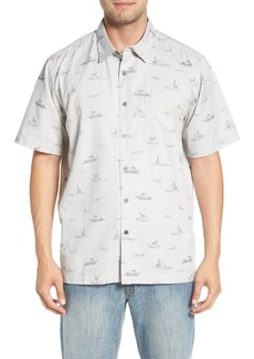 Quiksilver Waterman Collection Channel Cruising Classic Fit Sport Shirt