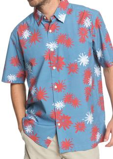Quiksilver Waterman Collection Floral Fireworks Classic Fit Sport Shirt