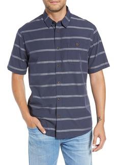 Quiksilver Waterman Collection Last Dawn Regular Fit Stripe Sport Shirt