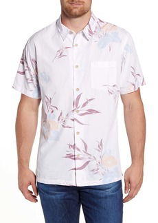 Quiksilver Waterman Collection Loninum Regular Fit Floral Short Sleeve Button-Up Shirt