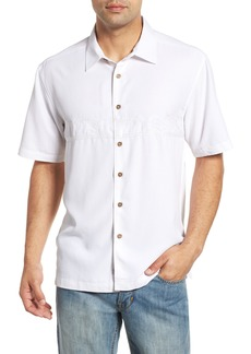 Quiksilver Waterman Collection Tahiti Palms Regular Fit Sport Shirt
