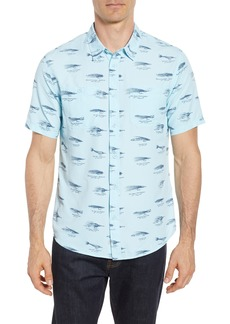 Quiksilver Waterman Collection Wake Lures Sport Shirt