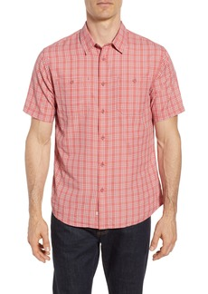 Quiksilver Waterman Collection Wake Plaid Regular Fit Performance Sport Shirt