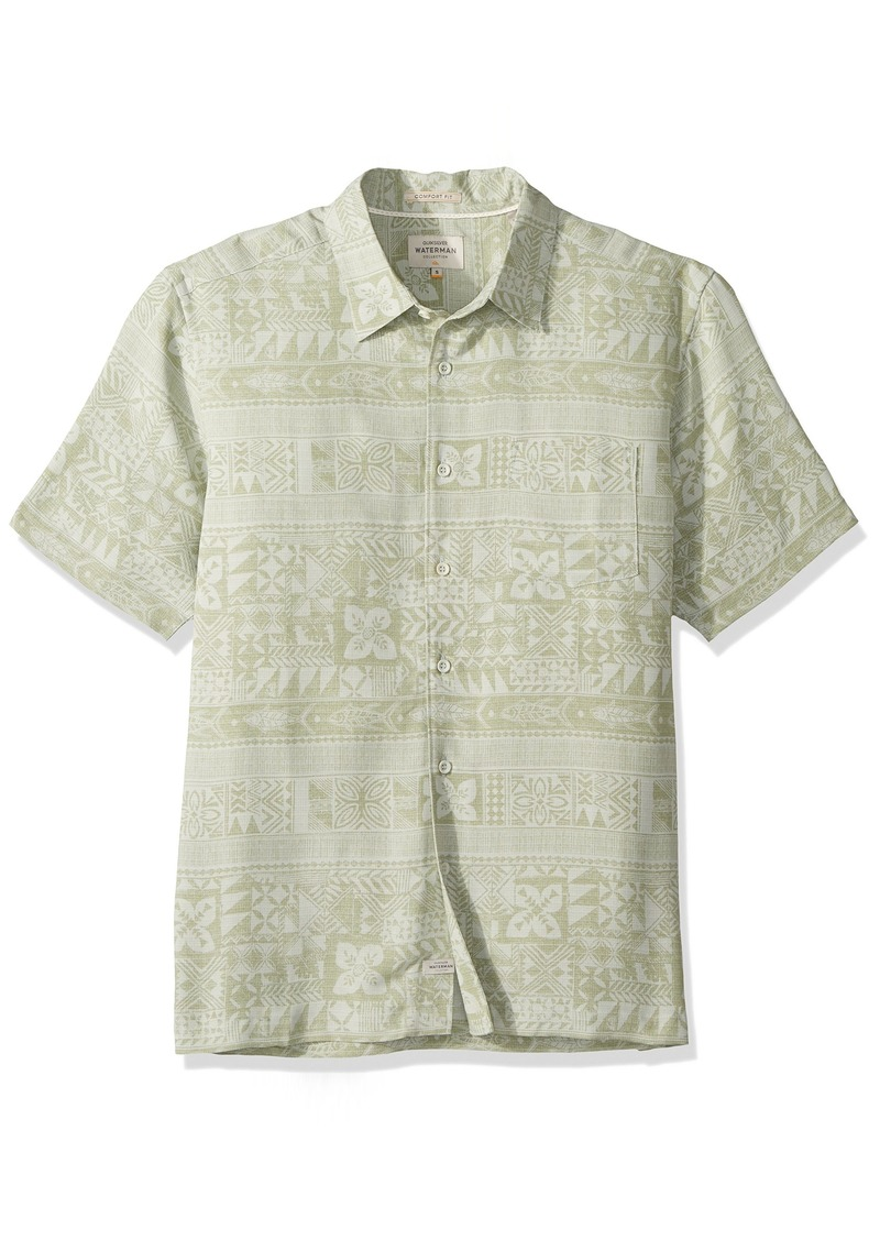 Quiksilver Waterman Men's Aku Fish Woven Top SEA Foam L