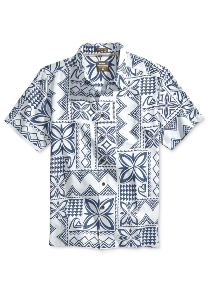 Quiksilver Waterman Men's Allover Printed Button-Front Shirt
