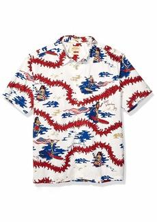 Quiksilver Waterman Men's BACKSCRATCHER Button Down Shirt White XL