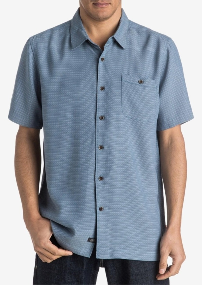 Quiksilver Waterman Men's Blue Marlin Button-Front Shirt