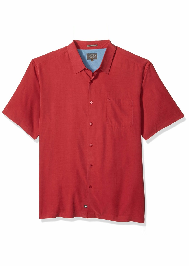 Quiksilver Waterman Men's Clear Days 4 Button Down Shirt Rio red S