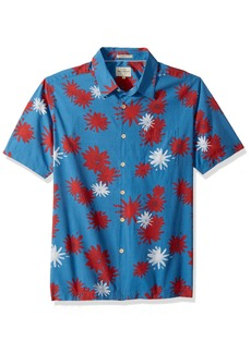 Quiksilver Waterman Men's Floral Fireworks Woven Top Parisian Blue XXL
