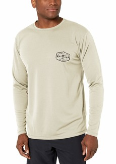 Quiksilver Waterman Men's Gut Check Long Sleeve Rashguard UPF 50 Sun Protection  S