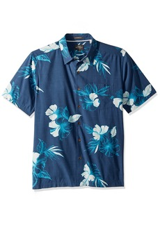 Quiksilver Waterman Men's Kiribati Lagoon Woven Top  M