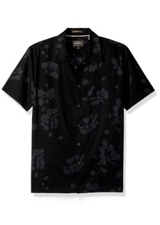 Quiksilver Waterman Men's Los Palmas Button Down Floral Shirt  S