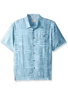Quiksilver Waterman Men's Maludo Bay Comfort Fit Button Down Shirt Provencial S