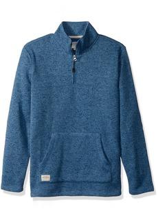 Quiksilver Waterman Men's Mormont TRE Fleece Zip Sweatshirt Top  S