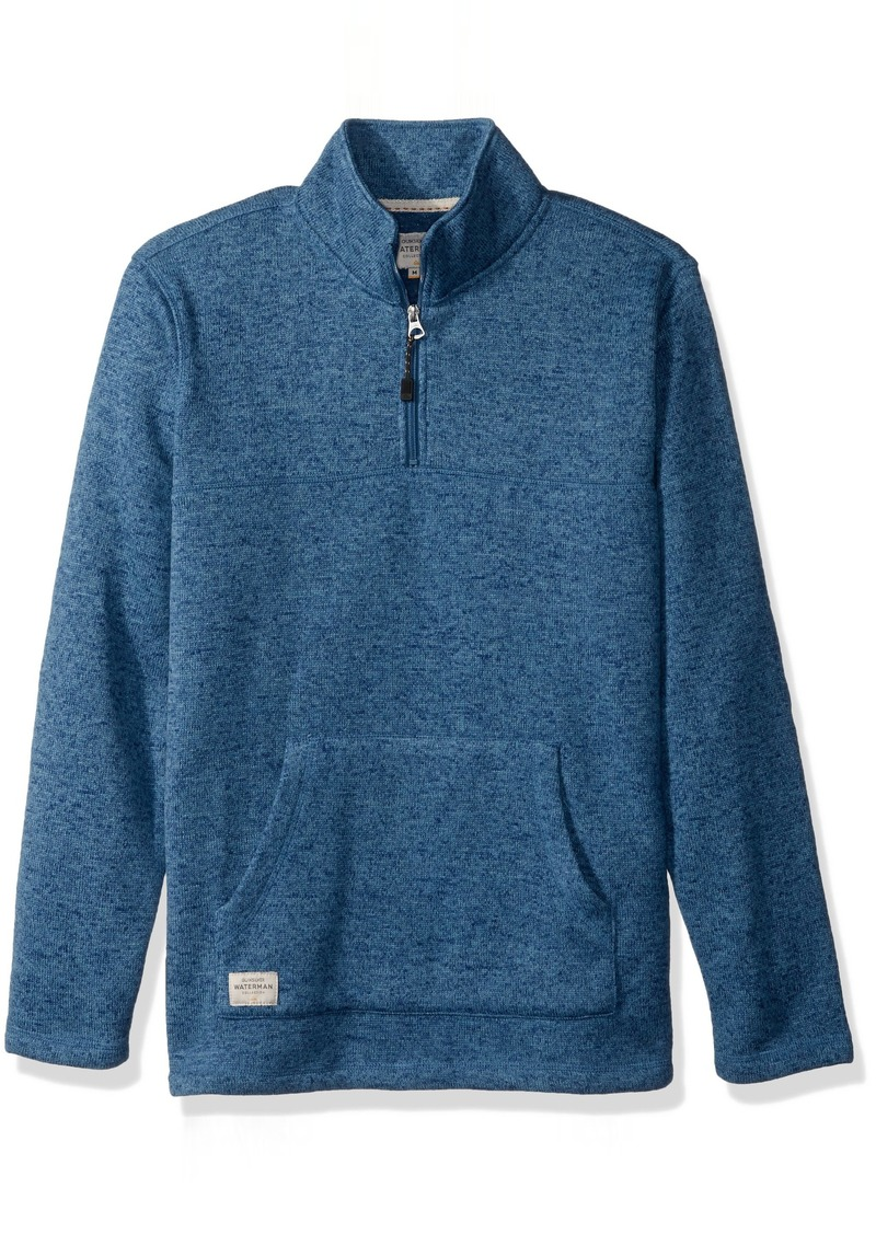 Quiksilver Waterman Men's Mormont TRE Fleece Zip Sweatshirt Top  S