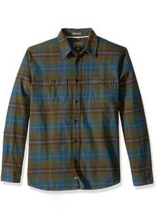 Quiksilver Waterman Men's Raleigh Button Down Flannel Shirt  L