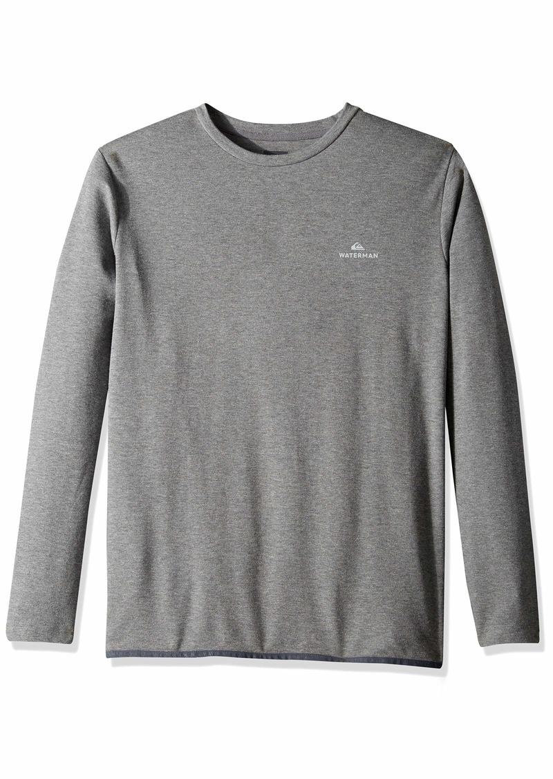 Quiksilver Waterman Men's Sea Hound Ls Crew Knit Shirt mid Grey Marl L