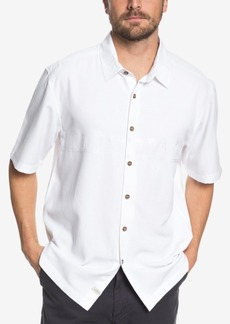 Quiksilver Waterman Men's Tahiti Palms Short-Sleeve Shirt