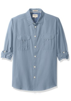 Quiksilver Waterman Men's Trailblazing Long Sleeve Shirt with Back Vent  S