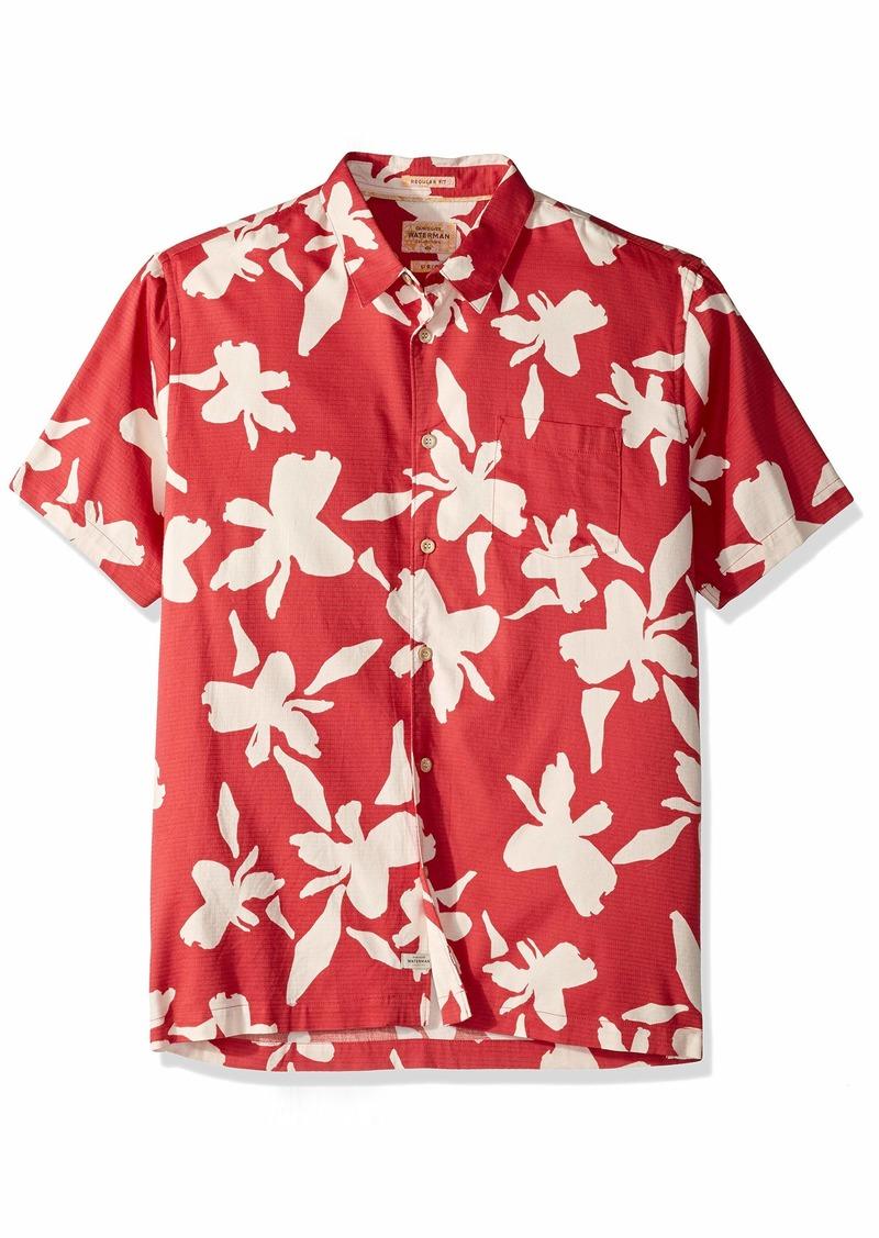 Quiksilver Waterman Men's Waikiki Nights Button Down Shirt Cardinal WIKIKI XL