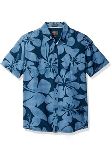 Quiksilver Waterman Men's Wake Idyll Button Down Shirt with Back Vent  XL
