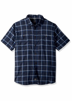Quiksilver Waterman Men's Wake Plaid Button Down Shirt  S