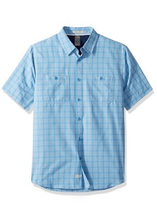 Quiksilver Waterman Men's Wake Plaid Update Woven Top Parisian Blue XL