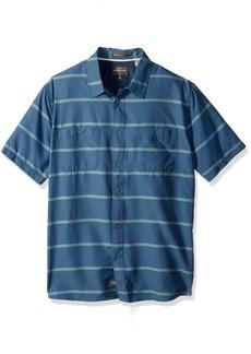 Quiksilver Waterman Men's Wake Stripe UPF 50+ Sun Protection Shirt  L