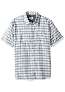 Quiksilver Waterman Men's Wake Uv Protection Button Down Shirt  S