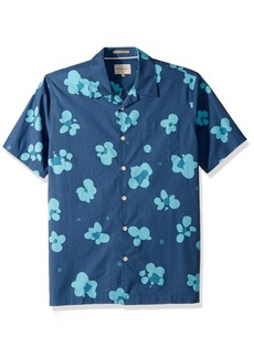 Quiksilver Waterman Men's Woven Shirt Ensign Blue WATERFLORAL XXL