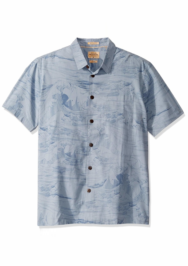 Quiksilver Waterman Men's Woven TOP Dusty Blue LES Waves XL