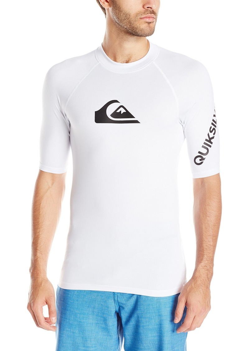Quiksilver Young Men's Sportswear Big and Tall Quiksilver Men's All Time Short Sleeve Rashguard Swim Shirt UPF 50+  3XL