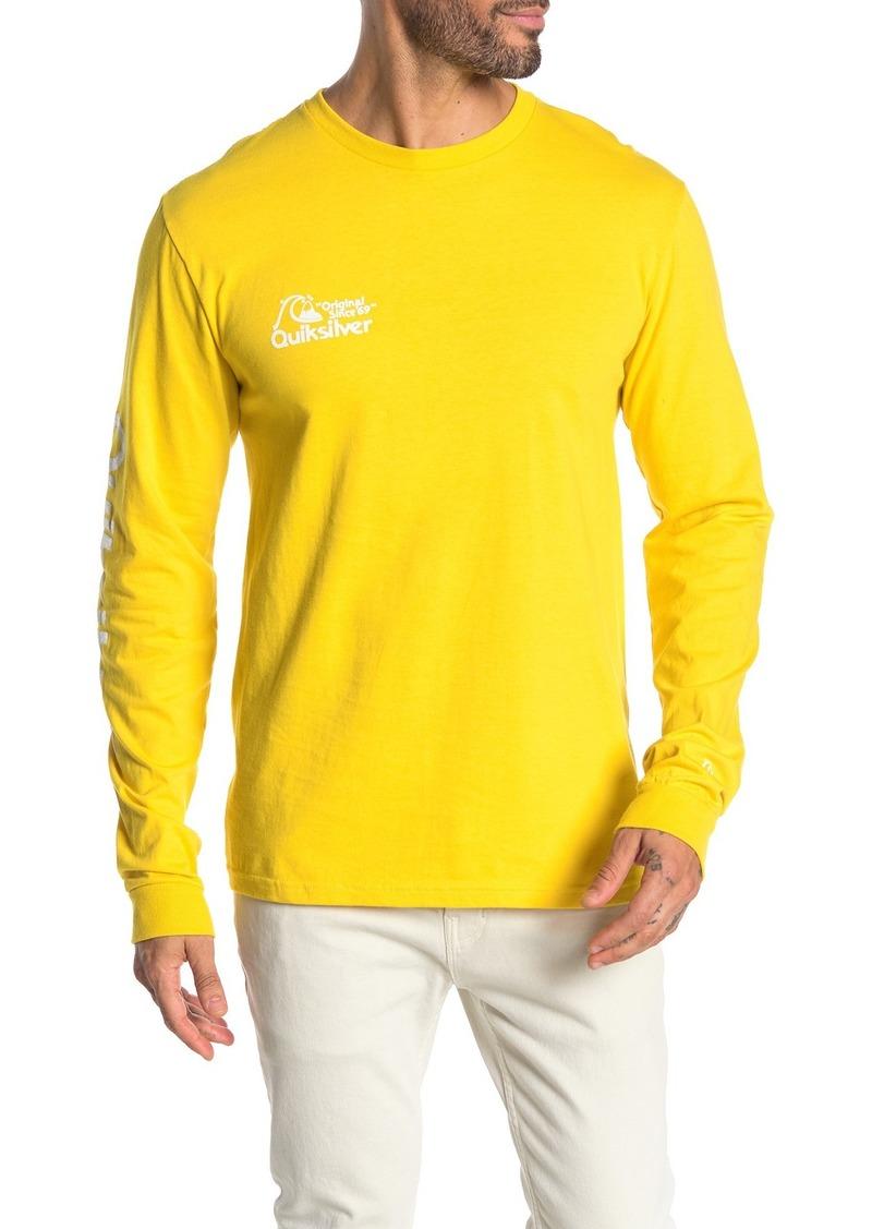 Quiksilver Regular Fit Bouncing Heart Long Sleeve Shirt