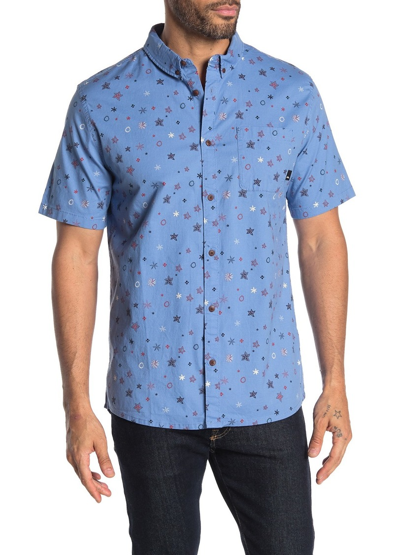 Quiksilver Regular Fit Ditsy Short Sleeve Stretch Shirt