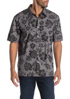 Quiksilver Regular Fit Hawaiian Print Short Sleeve Shirt