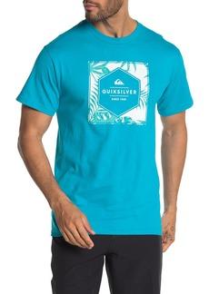 Quiksilver Shaddy Hexagon Short Sleeve Crew Neck Tee