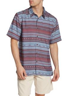 Quiksilver Tapua Sunset Short Sleeve Comfort Fit Shirt