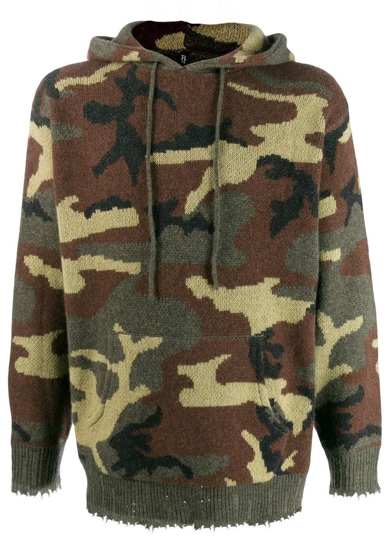 R13 camouflage hooded jumper
