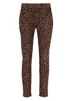 R13 Alison Leopard Corduroy Skinny Pants