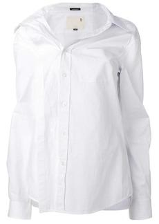 R13 asymmetric buttoned shirt