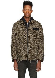 R13 Beige Leopard Jacket