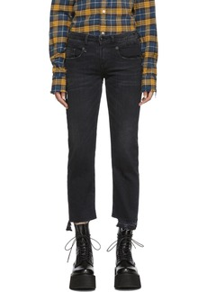 R13 Black Boy Straight Jeans