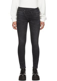 R13 Black Crossover Skinny Jeans