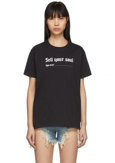 R13 Black 'Sell Your Soul' Boy T-Shirt