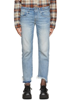 R13 Blue Boy Straight Jeans